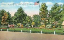 Parkside Drive Entrance, Laura Bradley Park, Peoria, Illinois 1941 used Postcard - $3.50