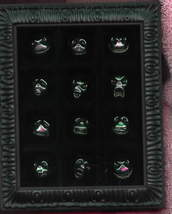 Nightmare before Christmas NMBC 12 faces of Jack framed 12 pins in set p... - $95.00