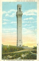 Pilgrim Memorial Monument, Provincetown, Mass 1932 used Postcard  - $4.25