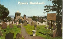 Plymouth, Massachusetts First Fort 1966 unused Postcard - $3.99