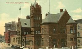 Post Office, Springfield, Mass early 1900s unused Postcard  - $3.99