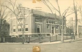 Public Library, Clinton, Massachusetts, 1958 used Postcard  - $3.99