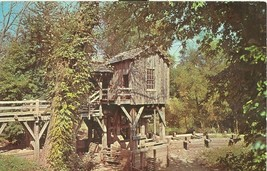The Saw and Grist Mill, New Salem State Park, Illinois 1969 Stamped Postcard - $4.77