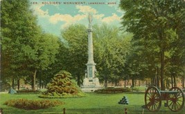 Soldiers Monument on the Common, Lawrence, Mass early 1900s unused Postc... - $3.99