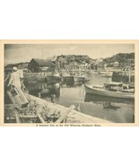 A Summer Day at the Old Wharves, Rockport, Mass used Postcard  - $9.99