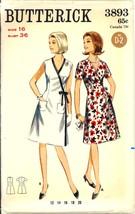 1960s Size 16 Bust 36 Side Wrap Dress Butterick 3893 Pattern - $8.99