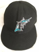 VINTAGE Florida Marlins MLB New Era 59FIFTY Fitted Cap Hat Size 7 5/8  B... - $21.77