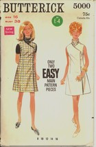 Uncut 1960s Size 16 Bust 38 Wrap Dress Jumper Butterick 5000 Pattern - $9.99