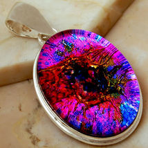 Sterling Silver Pendant Dichroic Glass - $23.95