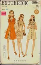 Uncut 1960s Size 16 Bust 38 Dress Jumper Cutaway Armholes Butterick 5686... - $12.99