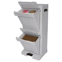 Storage Dog Feeder Food Bowl Dispenser Cabinet Container Pet Box Stand C... - $89.09
