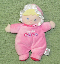 Prestige Plush MY FIRST DOLL Rattle Stuffed Baby Girl Blond Blue Eyes Pi... - $23.36