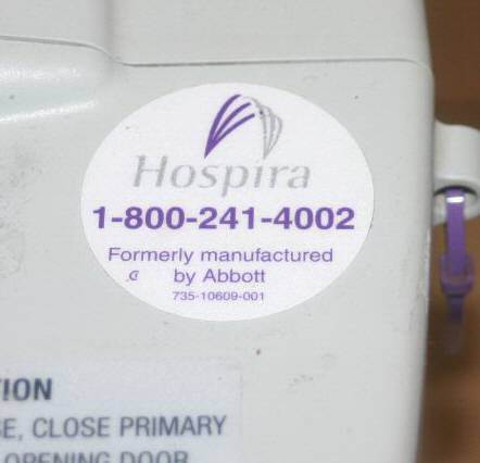 Hospira Abbott Labs Plum A+ Infusion Pump System:
