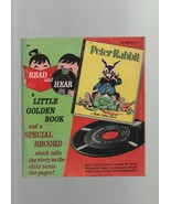 Peter Rabbit - Special Record & Book - Little Golden 1958 Beatrix Potter... - $2.93