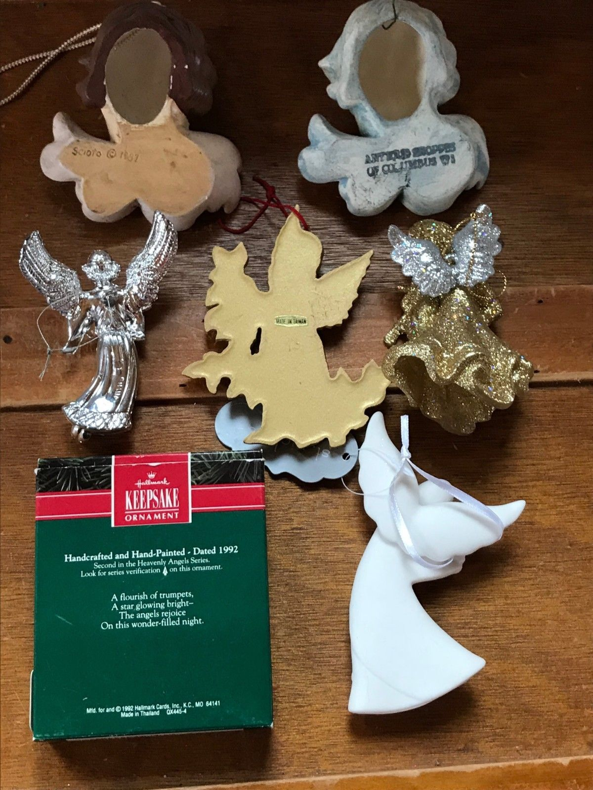 Estate Lot of Hallmark Heavenly Gilt Painted Resin Sparkly Silver Plastic White  image 9