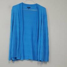 Talbots Blue Open Knit Open Front Cardigan Size XL Lightweight long sleeve  - $24.95