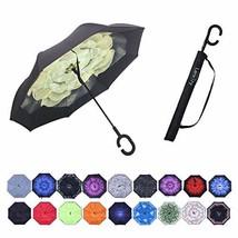 Umbrella,Windproof Waterproof Golf Umbrella,Double Layer Folding Inverte... - $20.00