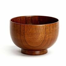 Brand New Natual Wood Round Salad Bowl Kitchen Handmade Children Fruit R... - $5.94