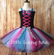 Monster High Tutu Dress, Monster High Costume, Girls Monster High Tutu - $40.00+