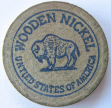"""Wooden Nickel From: """"B & V Collectibles"""" Sparks, Nevada - (sku#4984) - $7.75"""