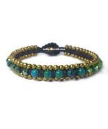 Stone Gold Bead Bracelet - $2.50