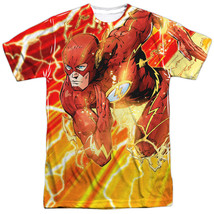JLA Justice League of America The Flash Lightning Dash Sublimation Front... - $26.99+