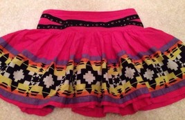 JUSTICE Cute Pink Multicolored Aztec Print Skort Girls Size 12 Free Ship... - $8.65