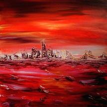 """Landscape HUGE 24"""" Original Oil Painting MODERN ABSTRACT WALL DECOR CANVAS - $98.00"""