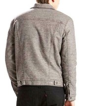 NEW LEVI'S MEN PREMIUM BUTTON UP SHERPA TRUCKER JACKET SASQUATCH GRAY 282490001 image 2