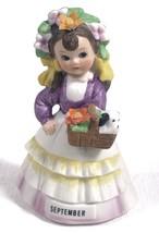 Vintage Lefton China Ceramic Porcelain September Birthday Girl Figurine ... - $9.79
