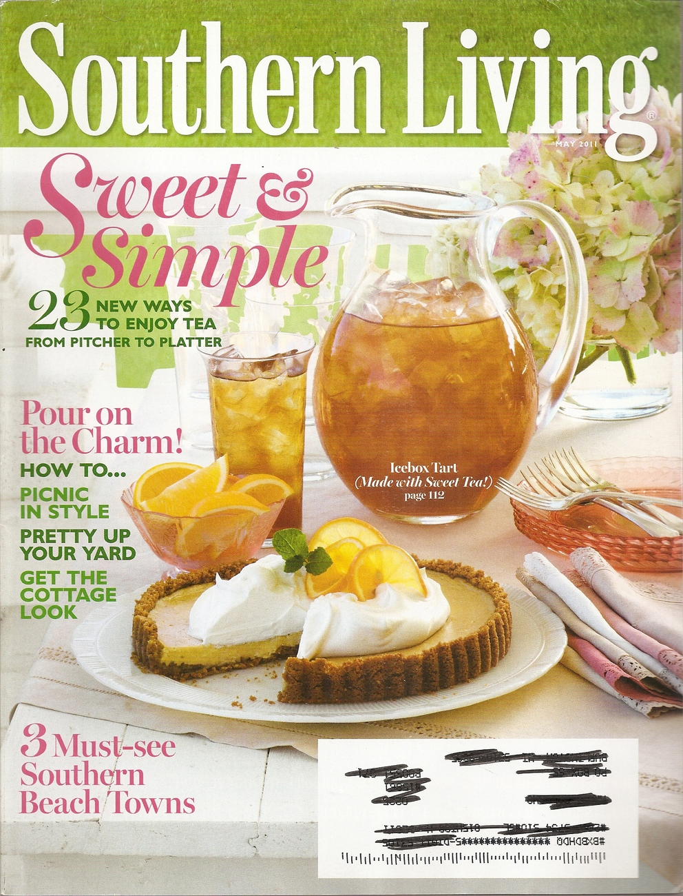 Primary image for SOUTHERN LIVING  MAY 2011