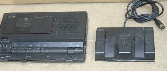Sanyo Transcription Machine TRC-8080 Standard Cassette with Foot Pedal, AC Power