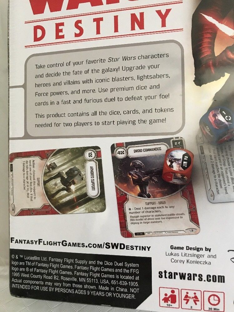 Star Wars Destiny Two-Player Dice & Card Game Fantasy Flight Games NEW SEALED