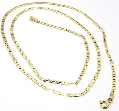 18K YELLOW, WHITE & ROSE GOLD CHAIN FLAT OVAL ALTERNATE LINK 2 MM, 20 INCHES