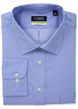 CHAPS Dress Shirt Mens Regular Fit Button Front Blue Stripes 15 32/33 - $26.07