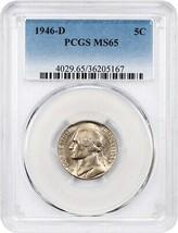 1946-D 5c PCGS MS65 - Jefferson Nickel - $24.25