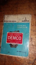 DEUTZ F3-6L 912/W ENGINE INSTRUCTION MANUAL PART# 297-1804 - $18.80