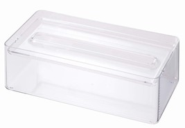 YAMAZAKI home 2334 Luxe Tissue Case & Tray, Clear - £23.53 GBP