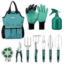 URCERI Garden Tool Set,10 Piece Heavy Duty Rust-Resistant Gardening Equi... - $38.59