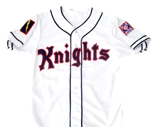 Roy hobbs  9 new york knights button down baseball jersey white 1