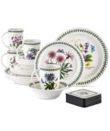 Portmeirion Botanic Garden 22 Piece Dish Dinnerware Set Assorted Floral ... - $212.84