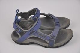Men's TEVA Tanza Gray/Blue Strap Sport Sandals Size 10 Style 4141 Waterp... - $39.43 CAD