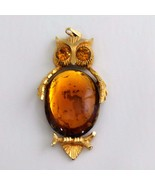 DODDS Vintage Jelly Belly Owl Amber - $14.39