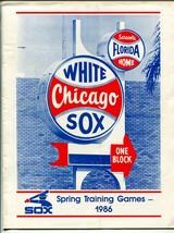 Chicago White Sox Spring Training Program 1986--MLB- - $30.26