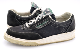 Mephisto Womens 8.5 Black Leather Runoff Air Jet Walking Sneakers Shoes - $39.99