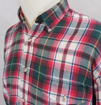 VTG WOOLRICH Men's L/LARGE 100%Cotton FLANNEL Plaid Button Up Multi Colo... - $24.96
