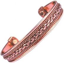 Men's Women Pure Magnetic Copper Bracelet Arthritis Healing Therapy Cuff... - $22.13