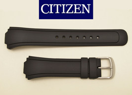 Genuine Citizen Eco-Drive  DIVERS watch band  BLACK rubber strap BM8290-... - $62.95