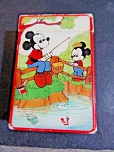 MINIATURE HALLMARK PLAYING CARDS MICKEY MOUSE FISHING COMPLETE WALT DISNEY - $19.00