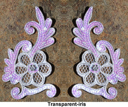 pair appliques sequins applikationen pailletten... - $5.99